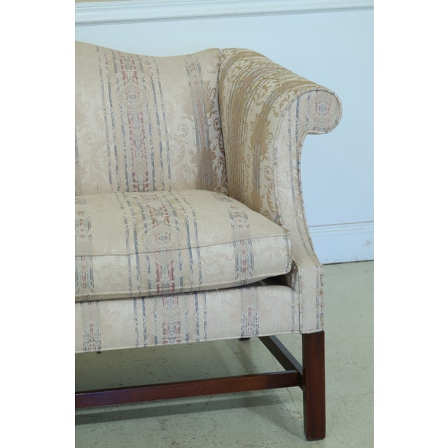 Item: 49774EC: SOUTHWOOD Chippendale Mahogany Loveseat Age: Approx: 20 Years Old Details: Down Seat Cushion Quality...