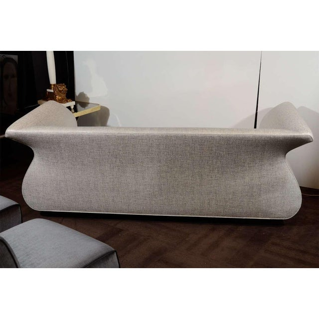Tan Hollywood Regency Sofa Designed by Sergio Savarese for Dialogica For Sale - Image 8 of 12