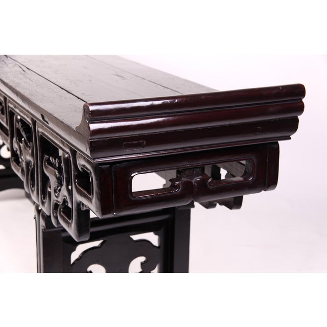 Mid 19th Century Mid 19th Century Chinese Trestle Leg Altar Table For Sale - Image 5 of 8
