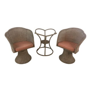 Flower Petal Shaped Dinette Set, 3 Pieces For Sale