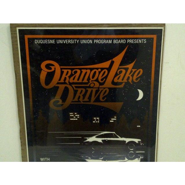 """Pop Art 1980 Vintage """"Orange Lake Drive"""" Concert Poster For Sale - Image 3 of 5"""