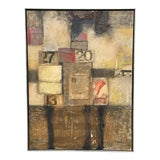 Image of Large Abstract Mixed Media Painting For Sale