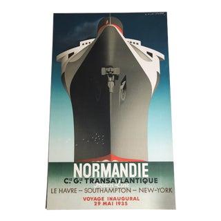 "Original ""Normandie "" Adolphe Mouron Cassandre 1935 Poster"