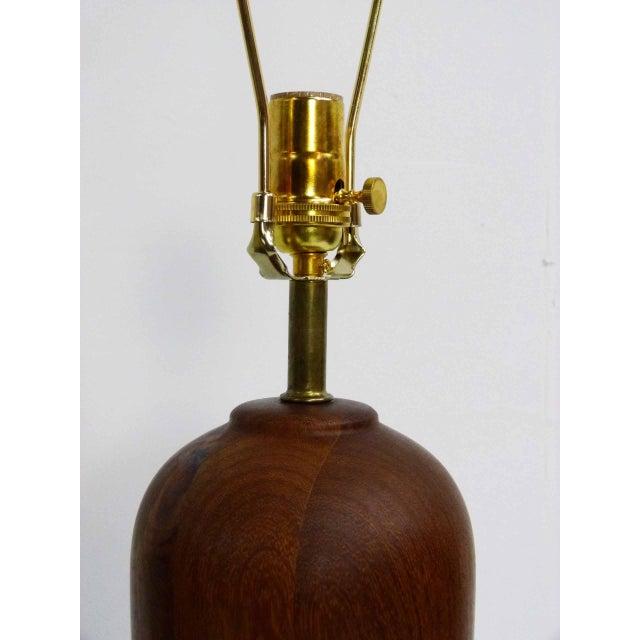 Danish Modern Teak Table Lamps - Pair - Image 4 of 6