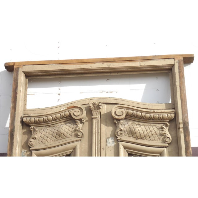Antique Ornate South American Doors - A Pair For Sale - Image 5 of 11