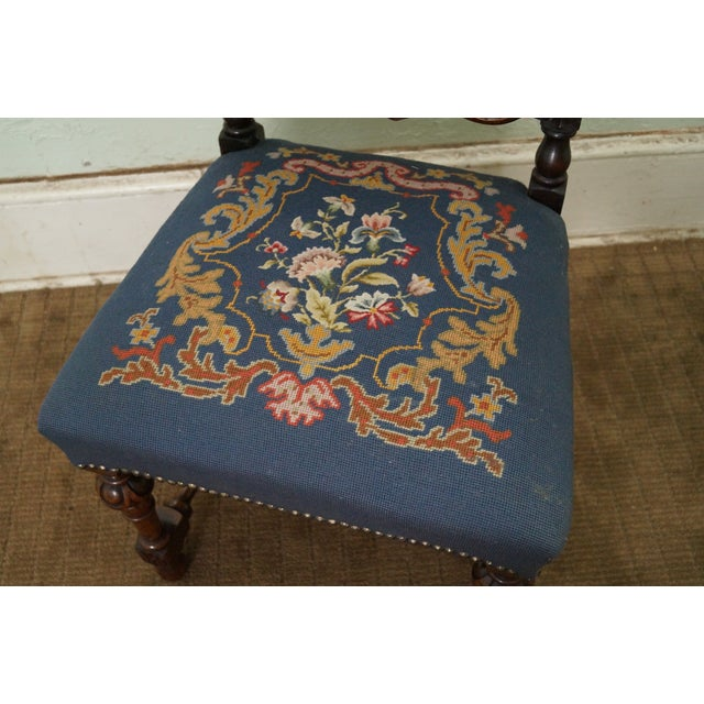 Antique Carved Renaissance Highback Side Chair For Sale In Philadelphia - Image 6 of 10