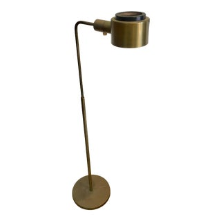 Vintage Casella Brass Reading Floor Lamp Mid Century Modern For Sale