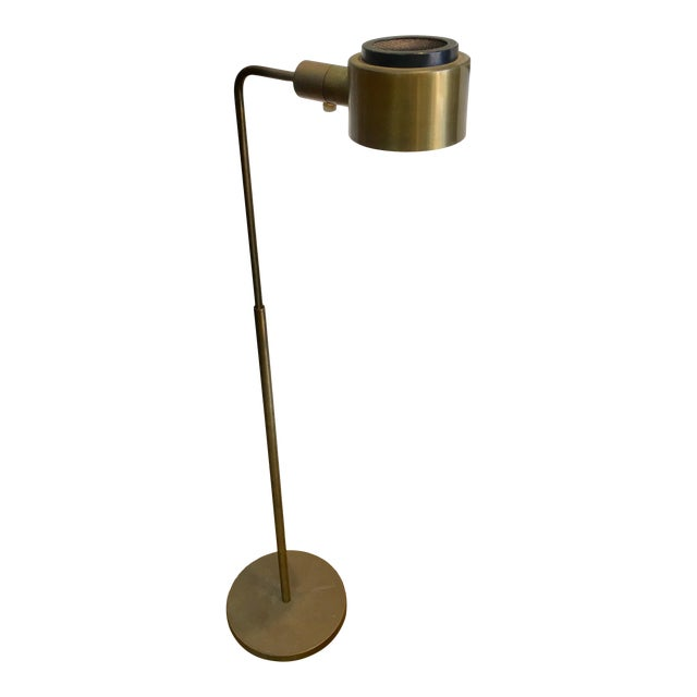 Vintage Casella Brass Reading Floor Lamp Mid Century Modern For Sale