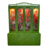Image of Chinoiserie China Cabinet by Thomasville For Sale