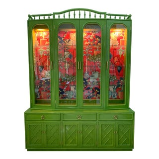 Chinoiserie China Cabinet by Thomasville For Sale