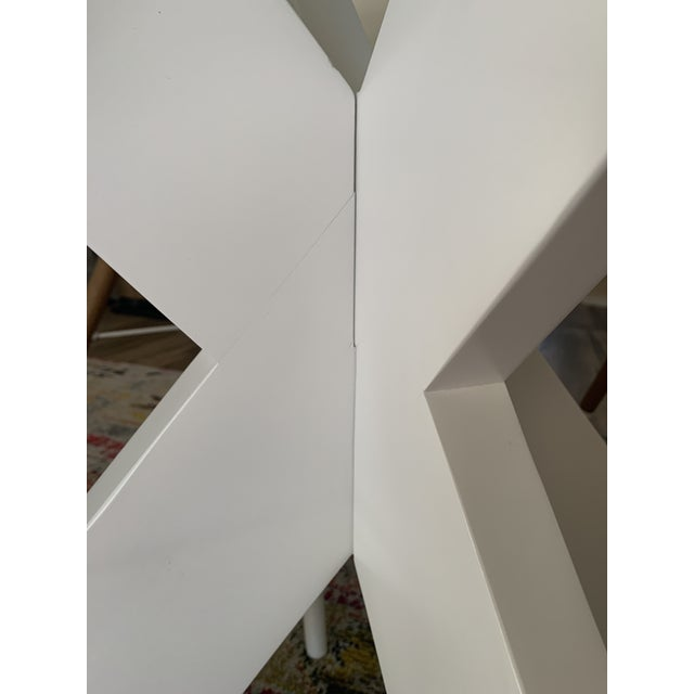 White Lacquer X Table Base For Sale - Image 11 of 13