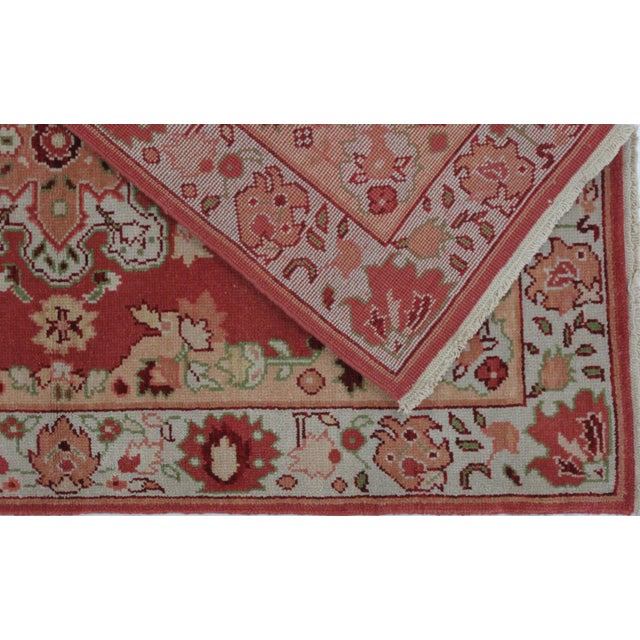Turkish Oushak Design Hand Woven Wool Rug - 4' X 6' - Image 4 of 5