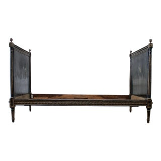 Antique Louis XVI Style Painted French Twin Size Daybed For Sale