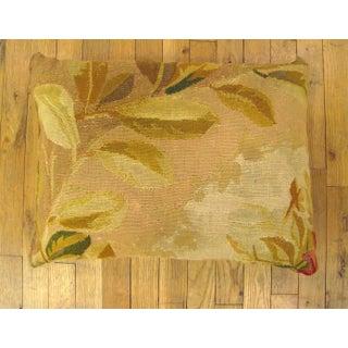 Antique French Aubusson Carpet Pillow Preview