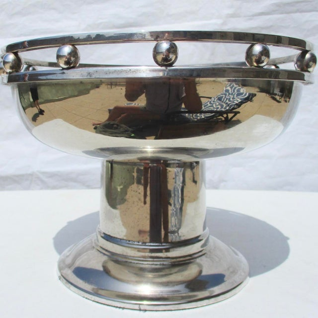 Larry Laslo Silver Plate Center Bowl For Sale In New York - Image 6 of 8