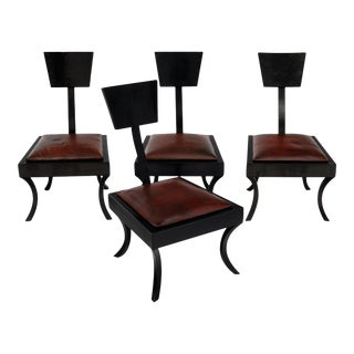 Art Deco Klismos Low Chairs - Set of 4 For Sale