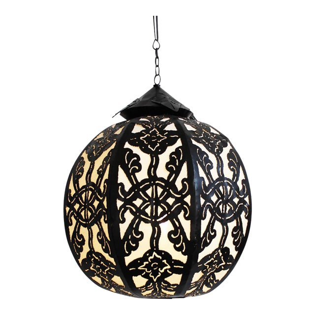 Medium Metal Work Globe Lantern - Image 1 of 3