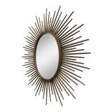 Image of Chaty Vallauris Oval Sunburst mirror For Sale
