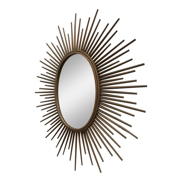 Chaty Vallauris Oval Sunburst mirror For Sale