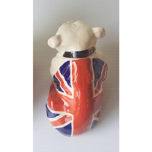 1940s Royal Doulton Winston Churchill English Bulldogs / Union Jack Bulldogs - Set of 3 For Sale - Image 10 of 13