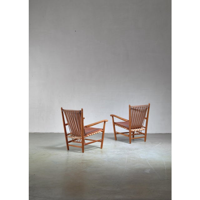 Arts & Crafts Albert Haberer Pair of Armchairs, Germany For Sale - Image 3 of 5