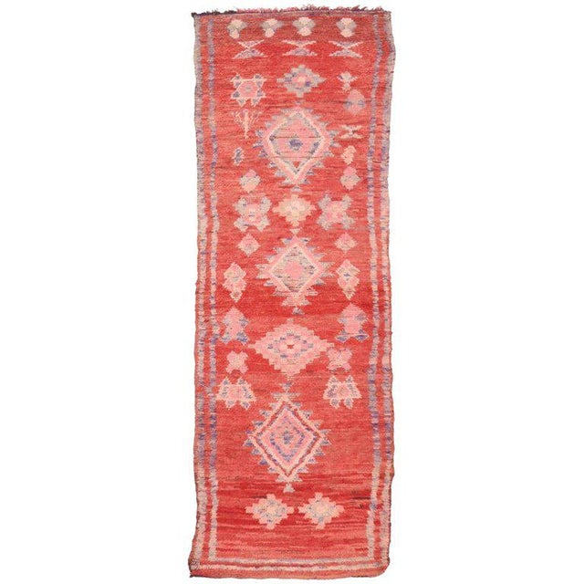 Vintage Berber Moroccan Runner with Tribal Style - Image 5 of 5