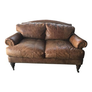 Lillian August Leather Loveseat