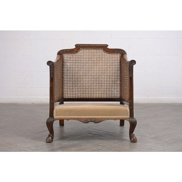 French Set of French 19th Century Traditional Louis XIV Bergere For Sale - Image 3 of 8