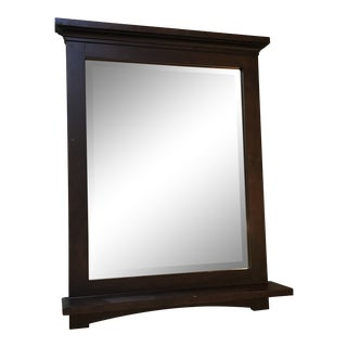 Wood Entryway Wall Mounted Mirror With Shelf For Sale