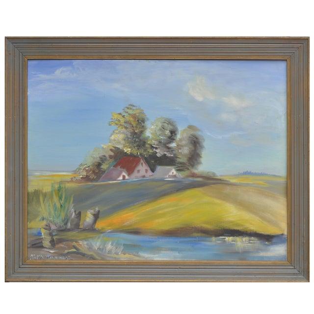 California Delta Farm Painting - Image 1 of 4