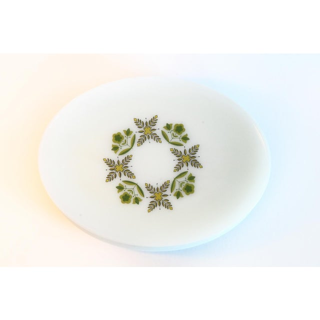 Cottage White Milk Glass Oval Dinner Plates - Set of 6 For Sale - Image 3 of 6