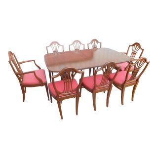 Vintage John Stuart Duncan Phyfe Mahogany Dining Room Set For Sale