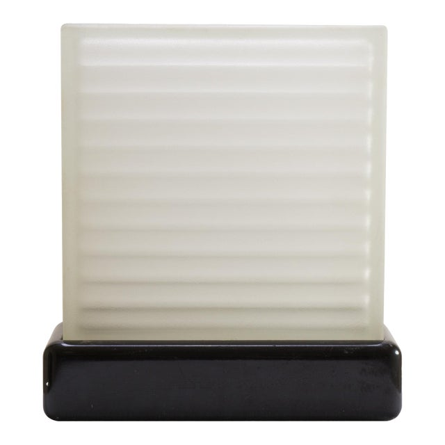Art-Deco Frosted Glass Accent Light For Sale
