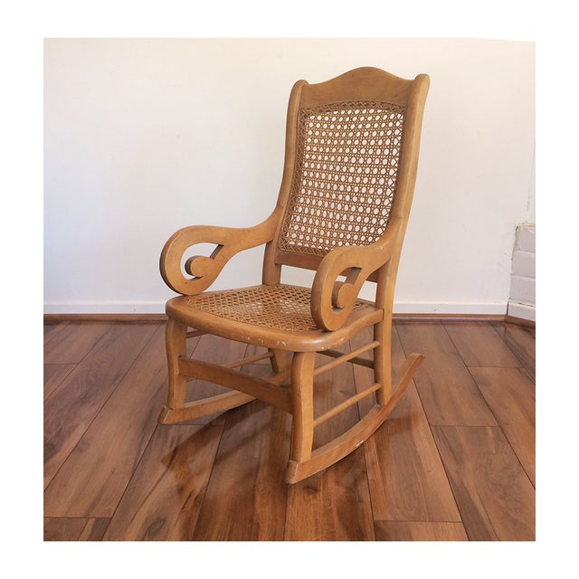 Childs Rocking Chair With Caned Back - Image 2 of 6