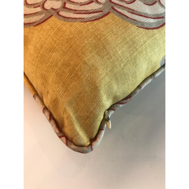 Manuel Canovas Chinoiserie Yellow Manuel Canovas Medallion Pillow For Sale - Image 4 of 5