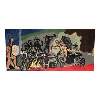 1954 Pablo Picasso La Guerre Et La Paix Signed Lithograph Print