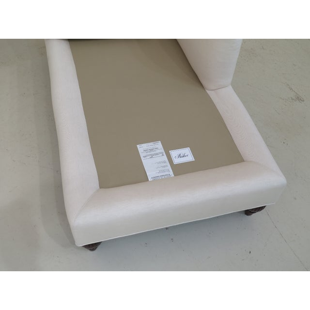 Baker Off-White Upholstered Chaise Lounge For Sale - Image 9 of 11