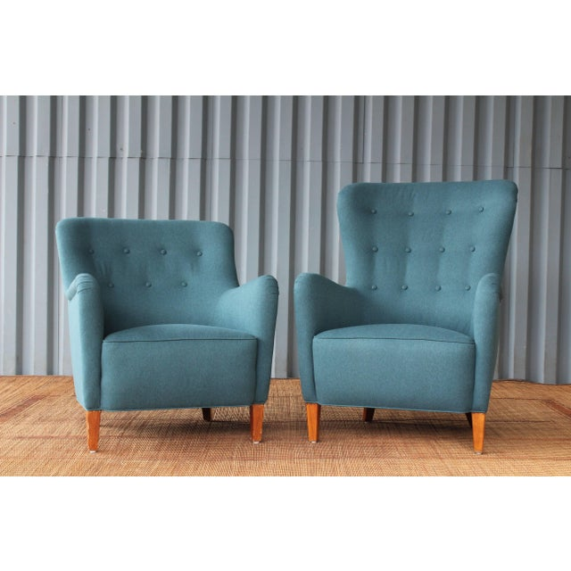 Dark Teal Armchair by Ernest Race, England, 1940s For Sale - Image 10 of 12