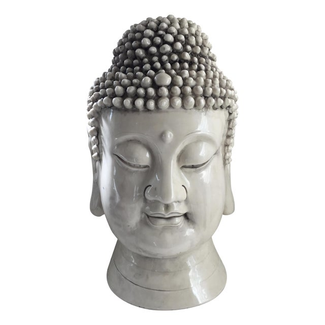 Chinese Blanc De Chine Buddha Head - Image 9 of 9