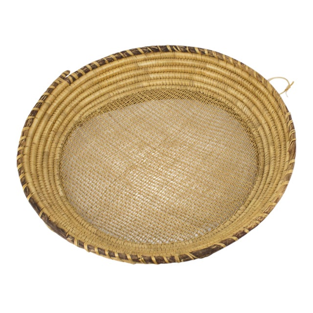 Large Bohemian Woven Basket For Sale