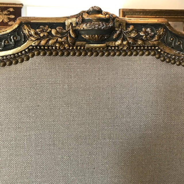 19th Century Louis XV Gray and Gilded Twin Bedframe For Sale - Image 11 of 13