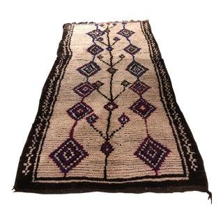 "Vintage Moroccan Wedding Blanket - 4'7"" x 9'8"""