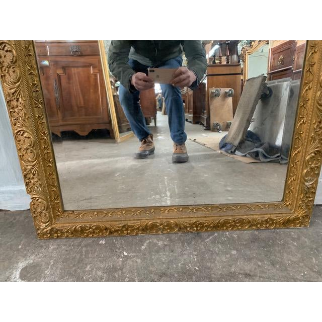 18th Century French Louis XVI Giltwood Mirror For Sale - Image 4 of 9