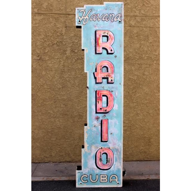 Radio Havana Cuba Neon Sign - Image 2 of 4