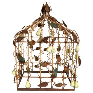 Early 20th Century Tole Birdcage