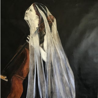 """The Woman and the Veil"" Painting For Sale"