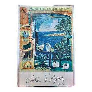 1962 Vintage Picasso Cote d'Azur Mourlot Framed Lithograph Print For Sale