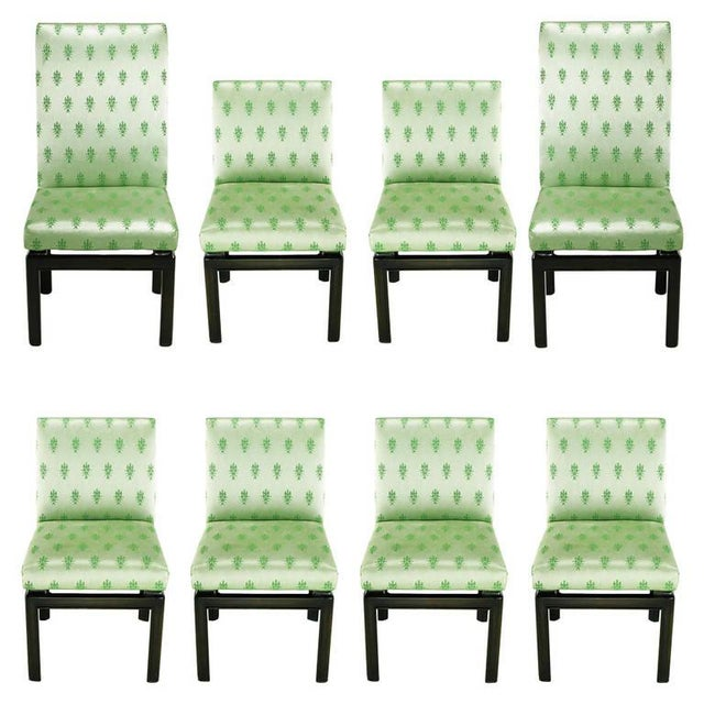 Eight Baker Far East Collection Floating Dining Chairs For Sale - Image 9 of 9