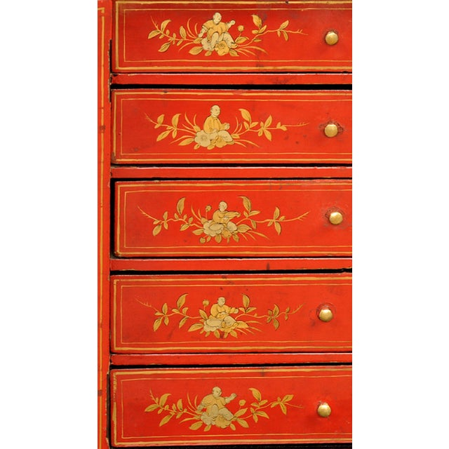 Metal Antique Chinese Export Miniature Cabinet, Circa 1850 For Sale - Image 7 of 9