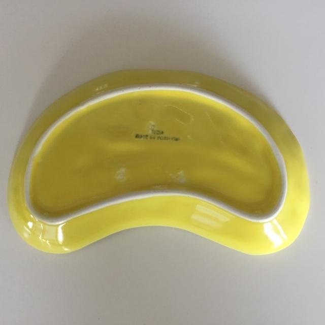 Vintage Secla Cabbage Leaf Crescent shaped Salad Plates - Set of 4